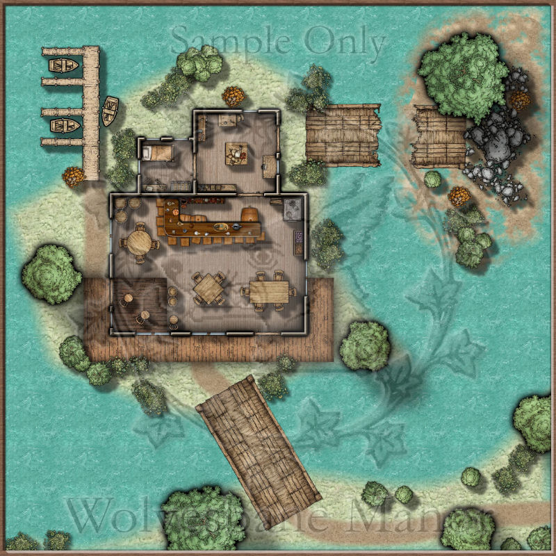 The Queasy Toad: A small tavern in a Swamp